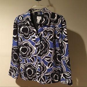 Chicos shirt jacket with beading